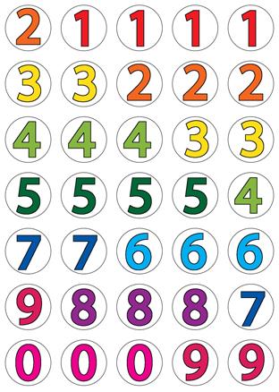 מספרים צבעוני